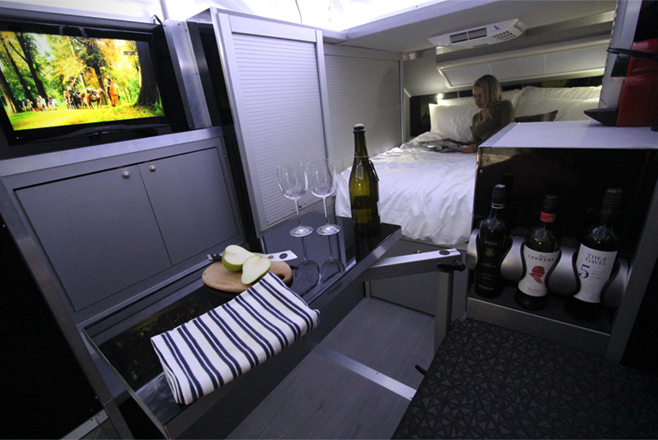 small travel trailers - bruder inside