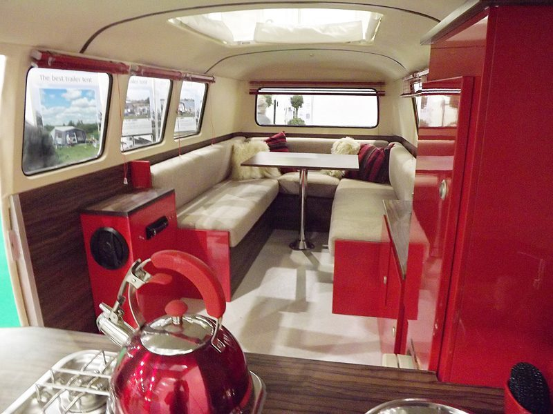 small travel trailers - dinky dub sofa