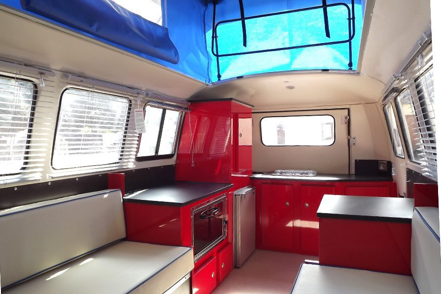 small travel trailers - dinky dub kitchen