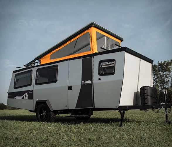 small travel trailers - mantis pop top