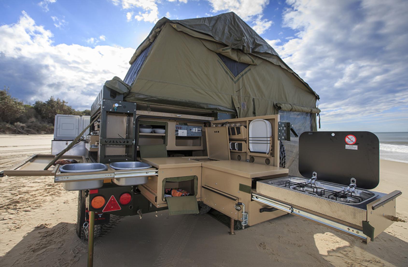small travel trailers - conqueror overland burner