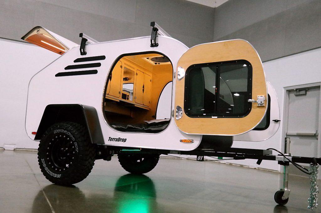 small travel trailers - Teardrop Trailer white