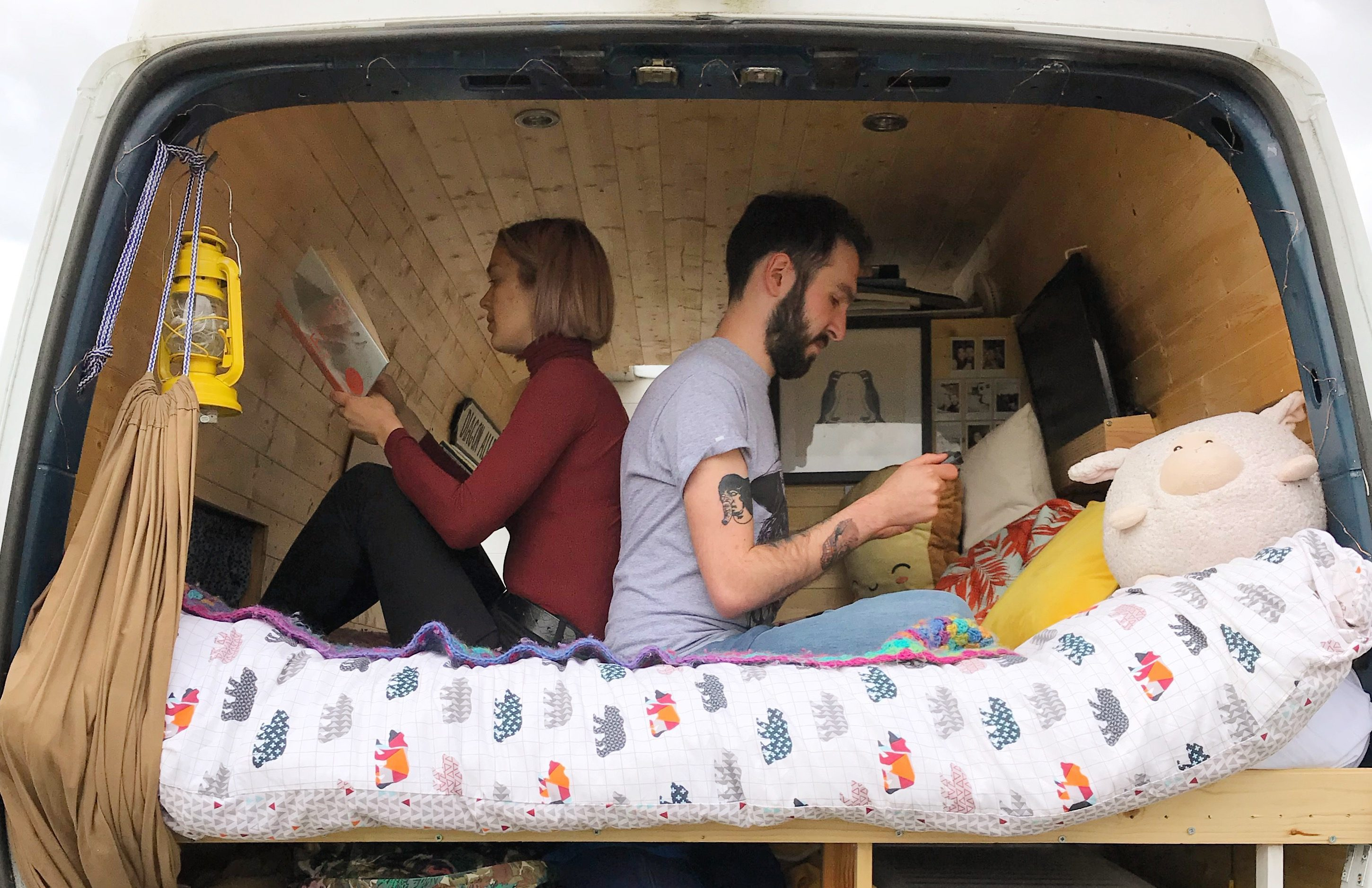 Living off the grid - bed