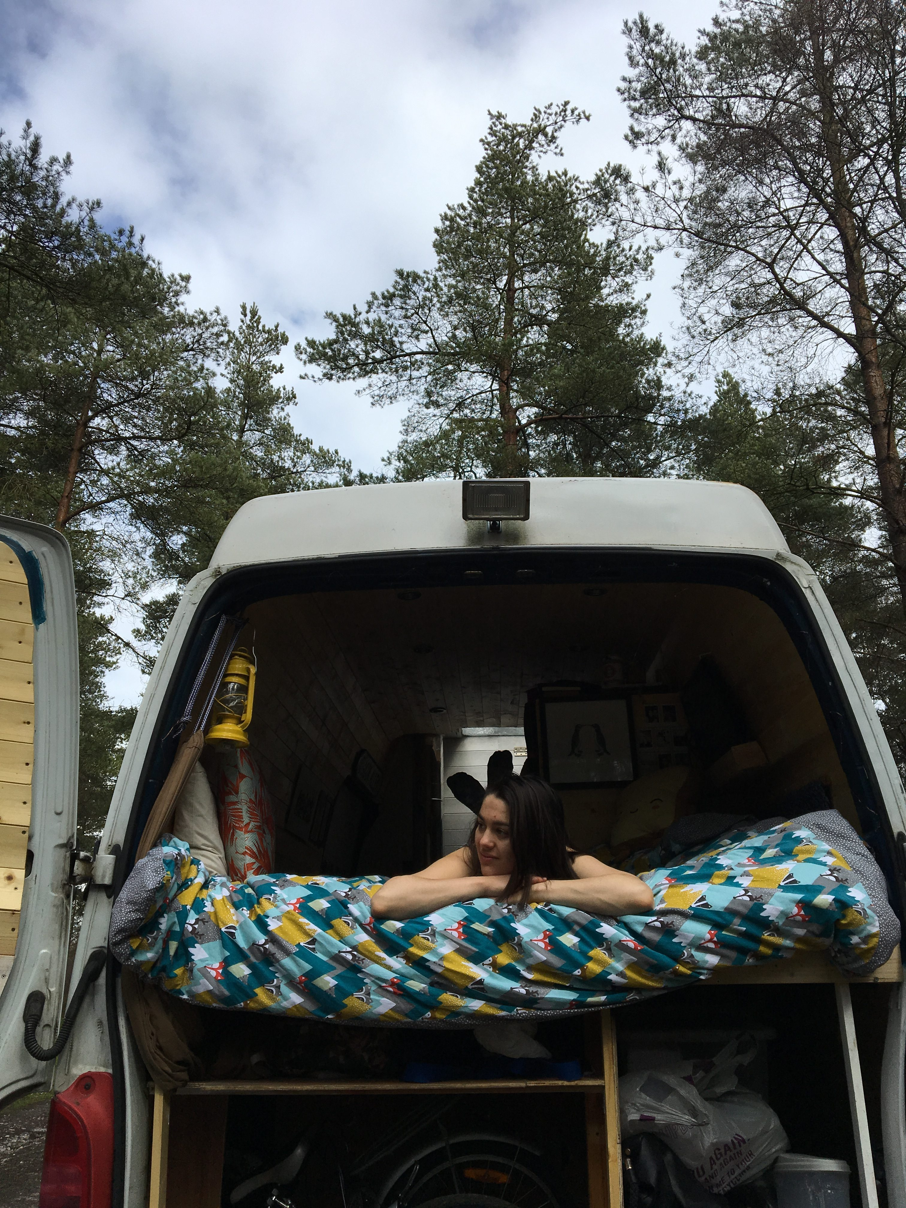 Living off the grid - forest