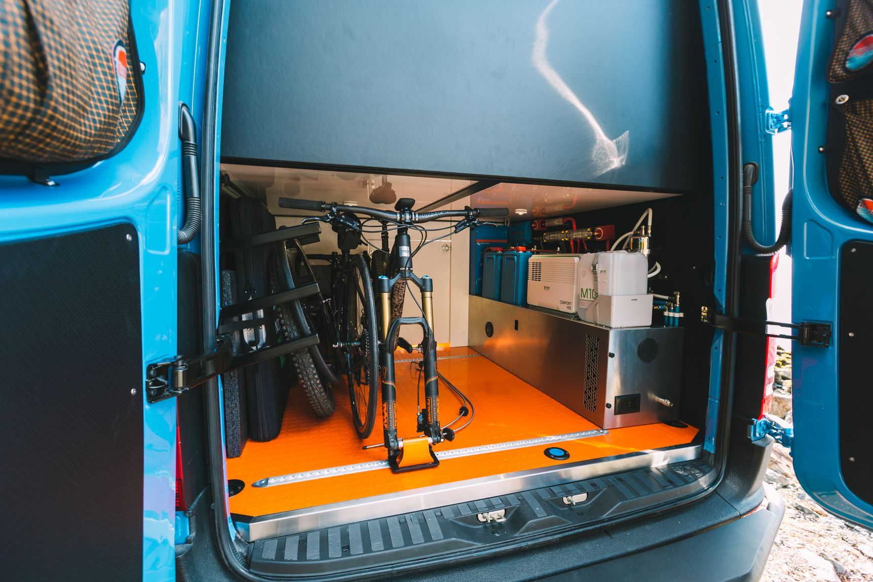 Off Grid home - Bike storage