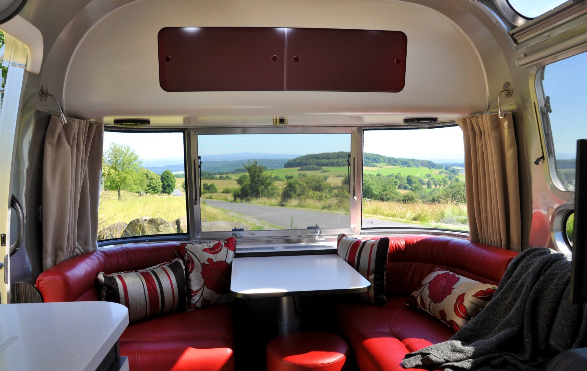 Top Eco Campers - Inside the airstream