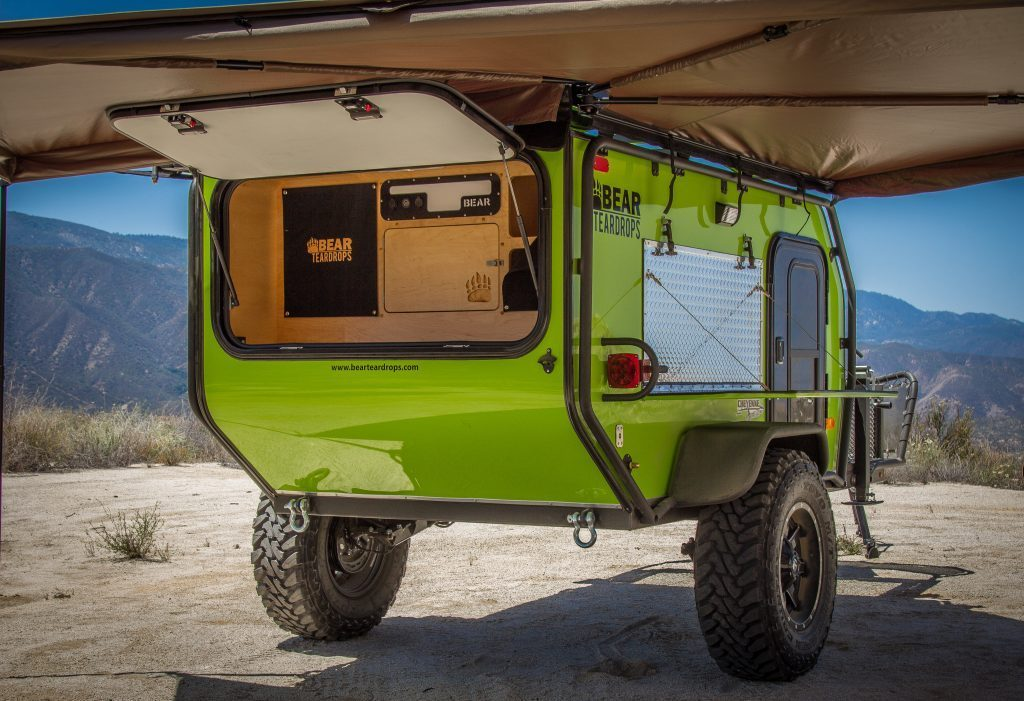 small travel trailers - bear teardrop trailers awning