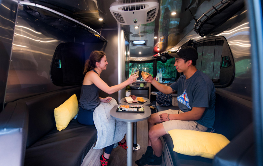 small travel trailers - dining