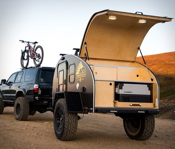 small travel trailers - Pika open storage