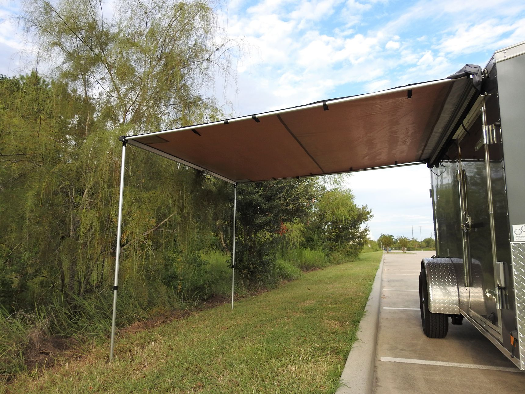 small travel trailers - cargo awning