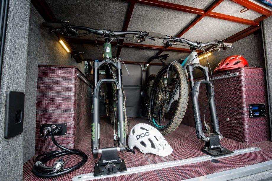 Ford Camper Conversion - Bike storage