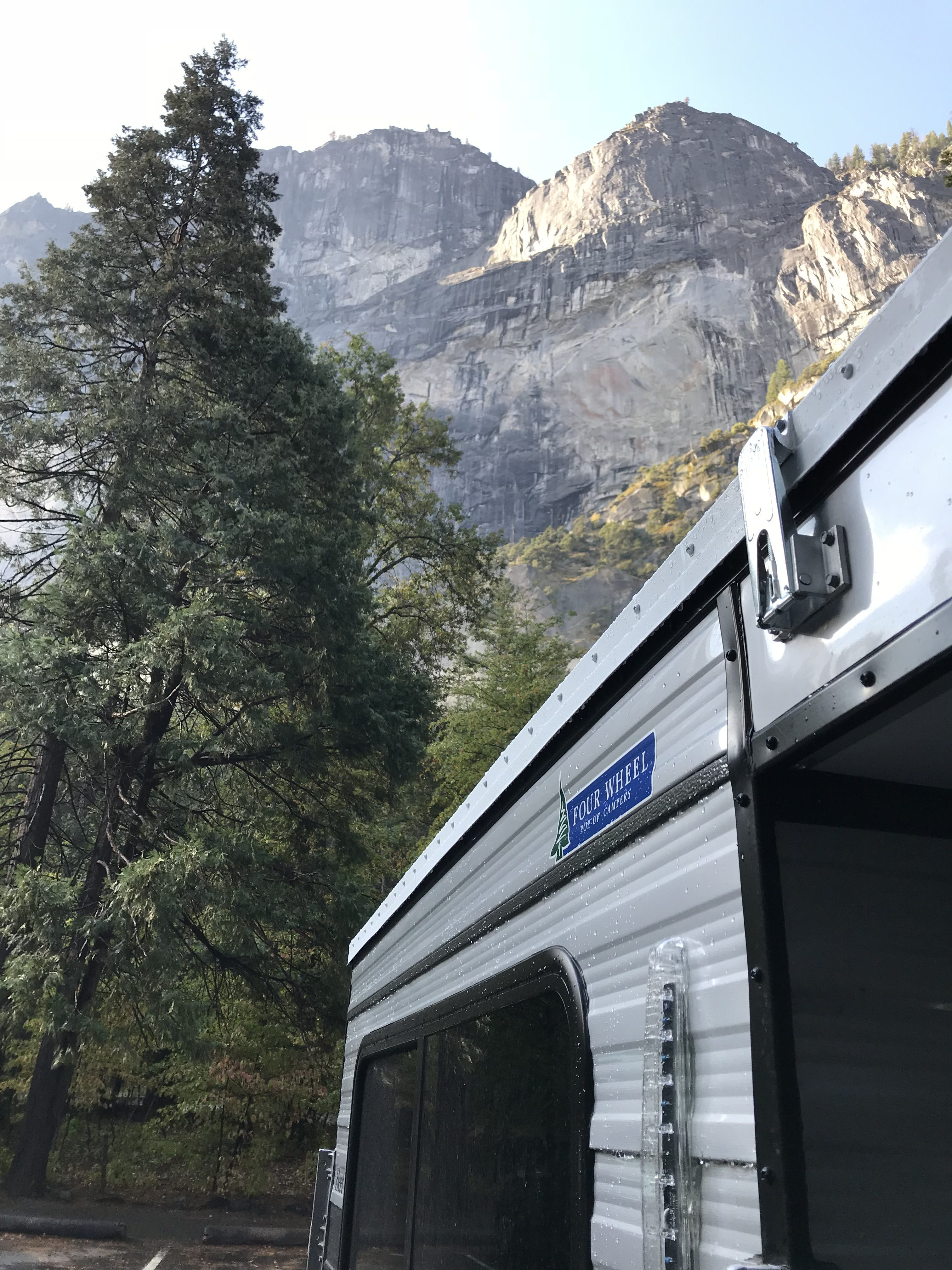 Toyota Tacoma Camper Four Wheel Camper pod by Half Dome in Yosemite