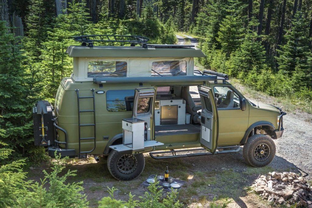 Best van to live in - green Sportsmobile Classic 4x4 exterior