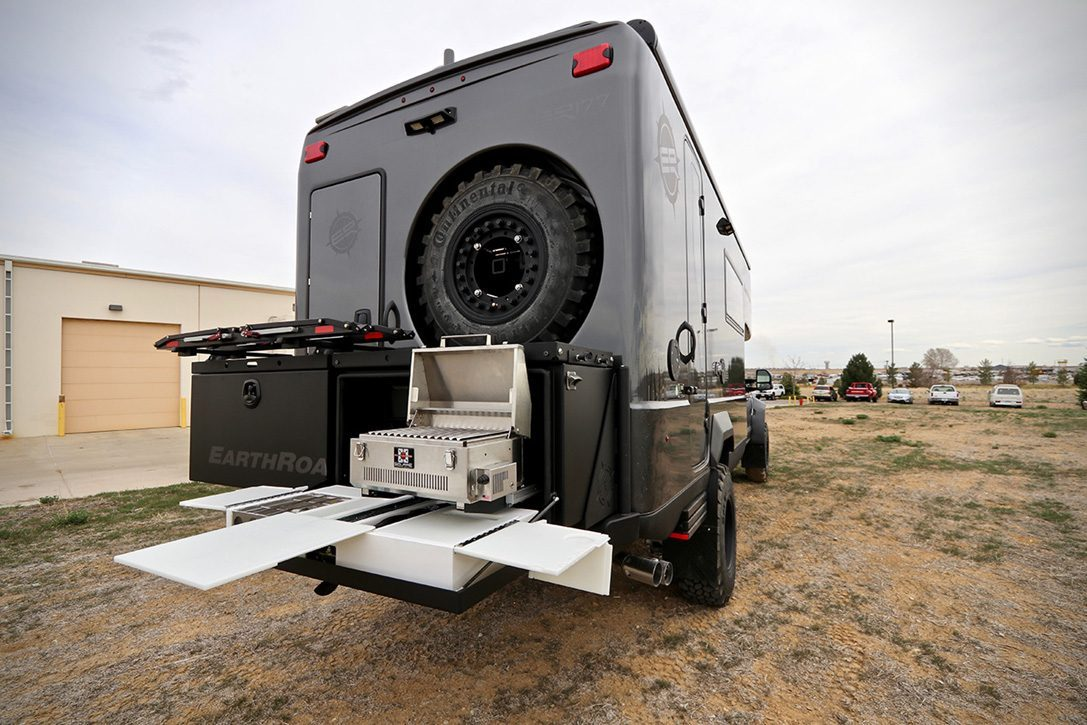 Ford EarthRoamer - outdoor cooking
