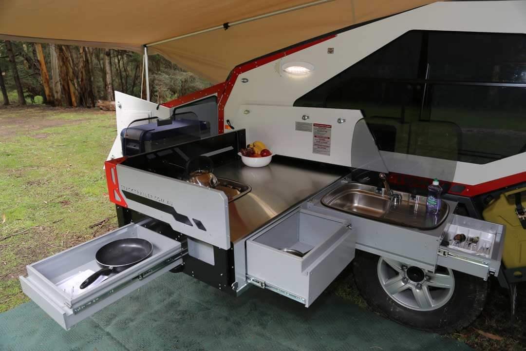 Off road trailer - kitchen