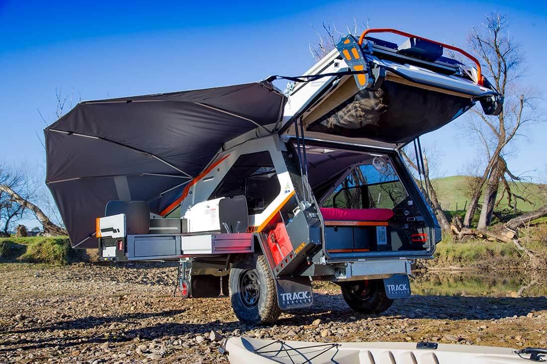 Off road trailer - open door