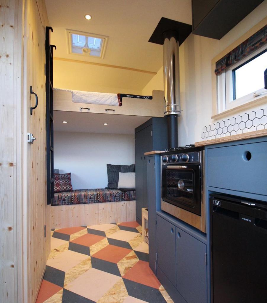 best van to live in - luton interior