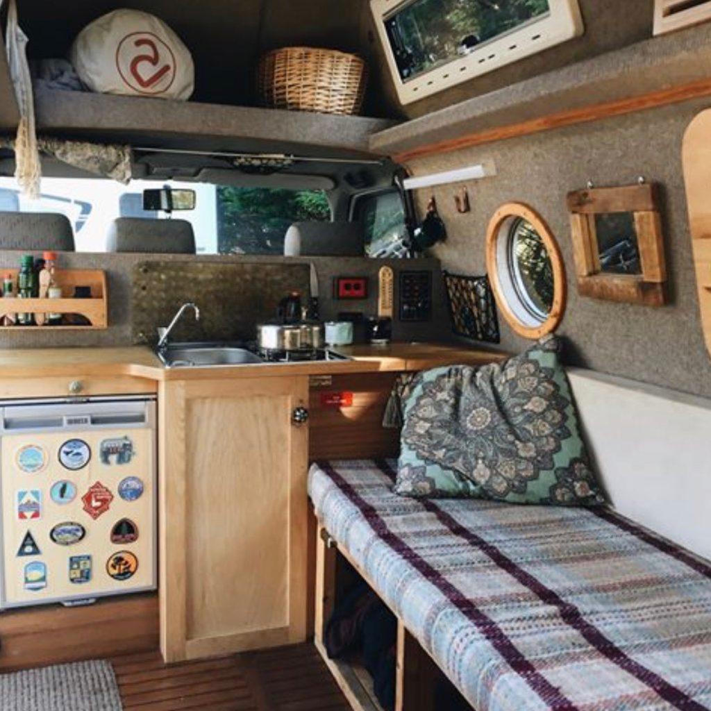 build a campervan - rolling