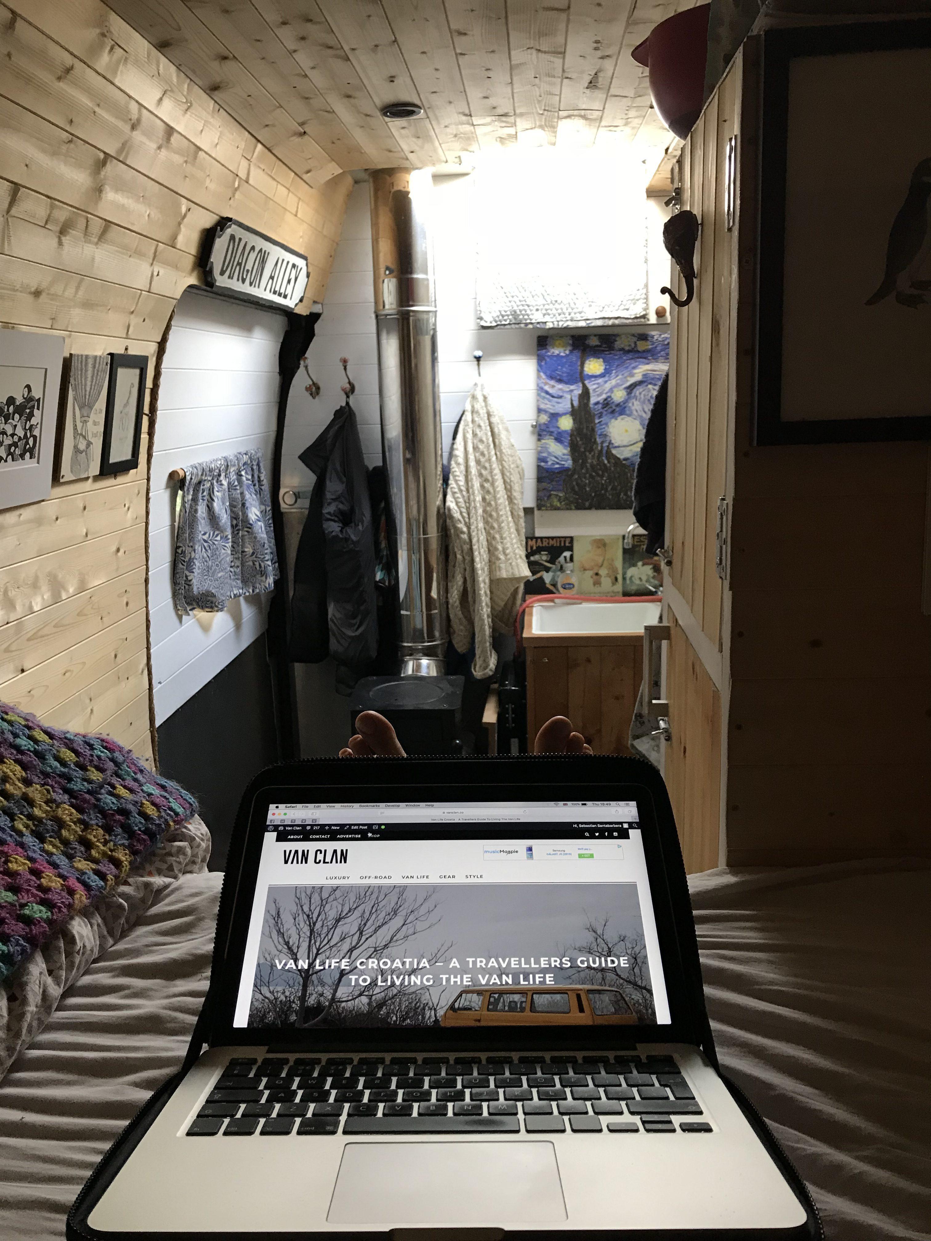 Travelling in a van - tethering