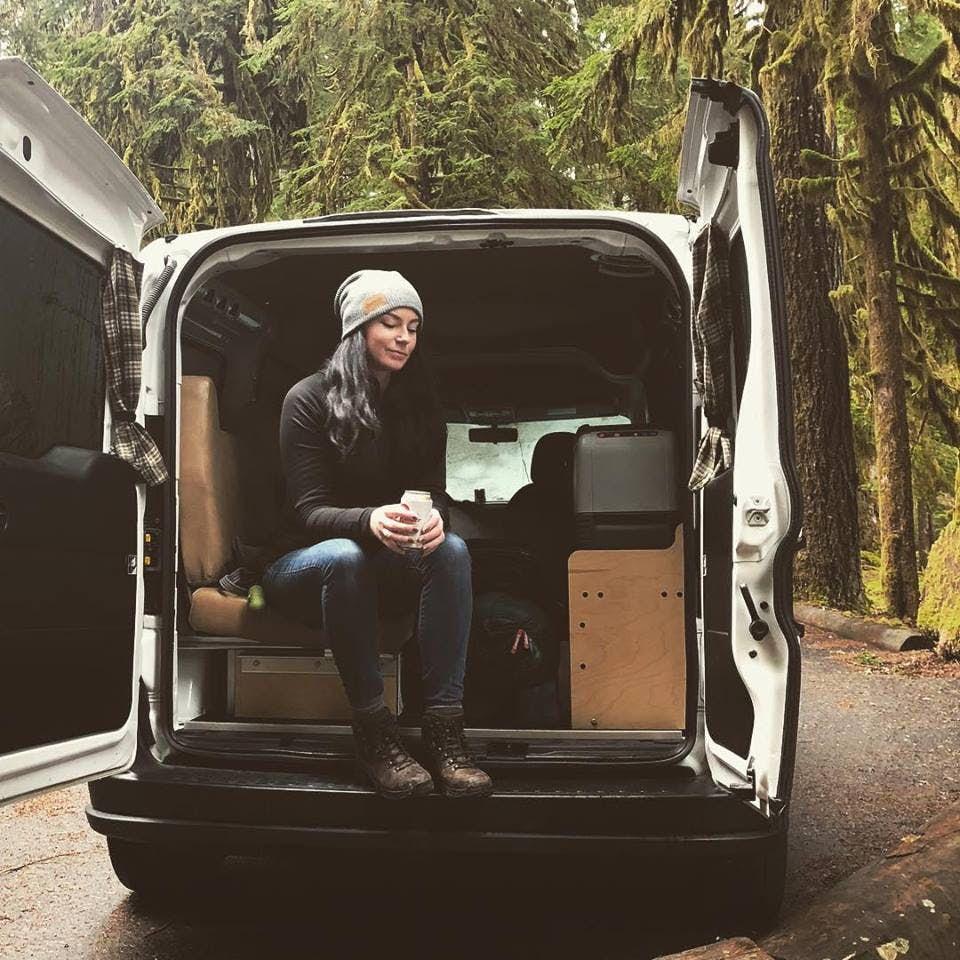 stealth camper van - inside