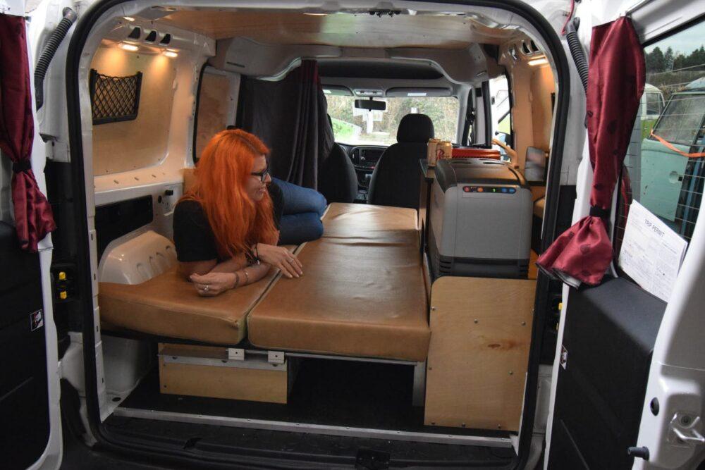 stealth camper van with bed