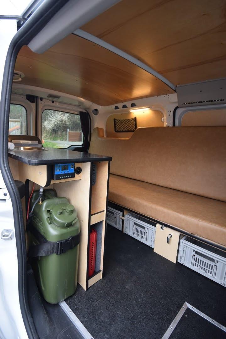 stealth camper van - kitchen