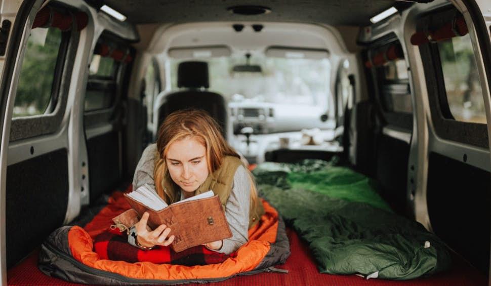 Cheap Camper - sleeping