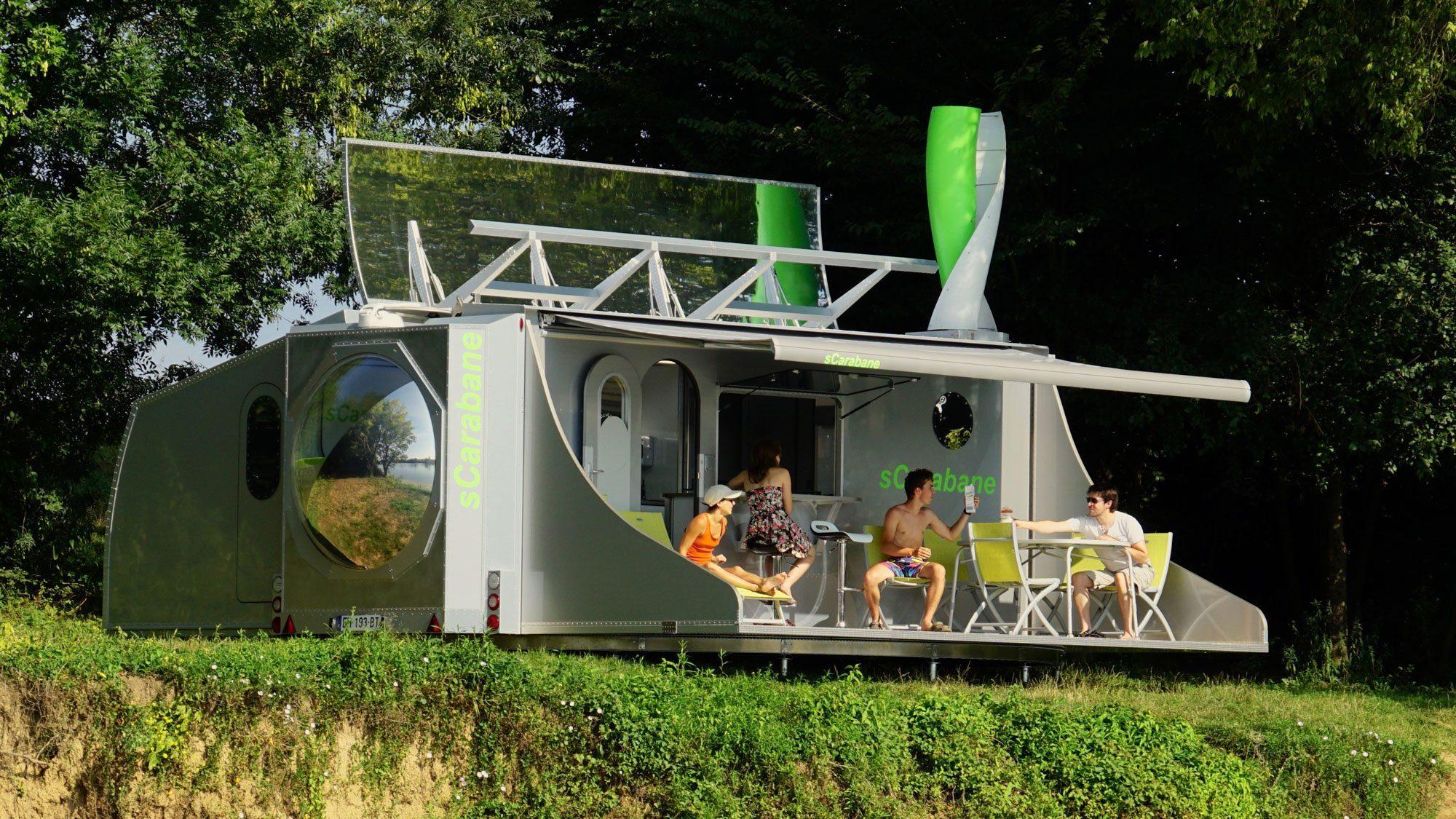 Off Grid Caravan - outside