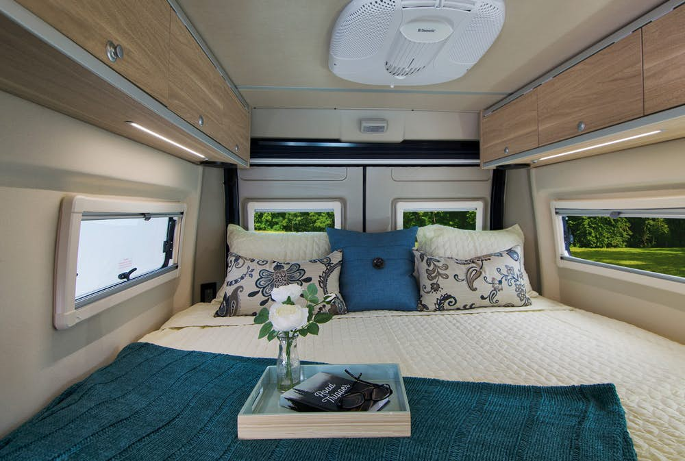 pop top camper - master bed