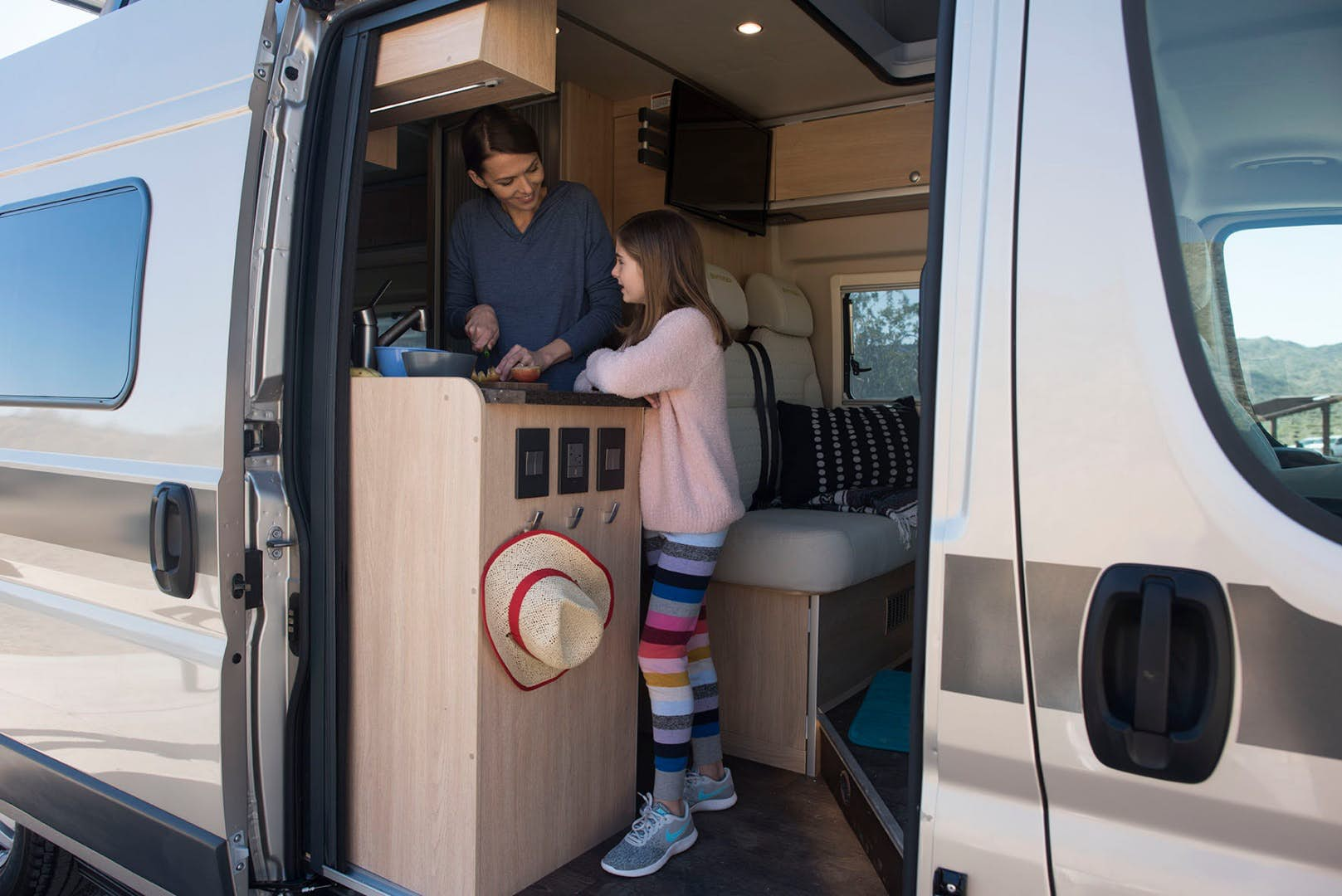 pop top camper - inside