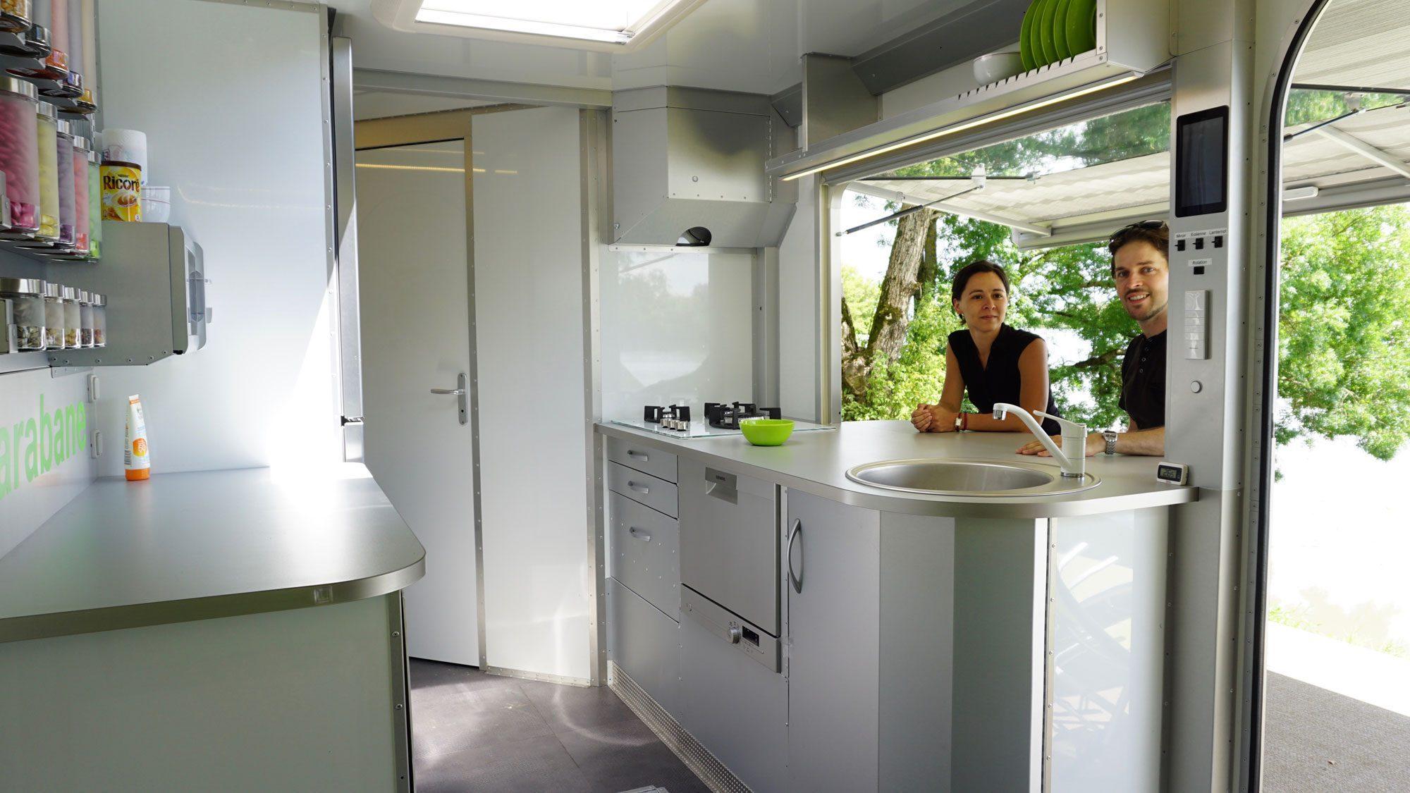 Off Grid Caravan - breakfast