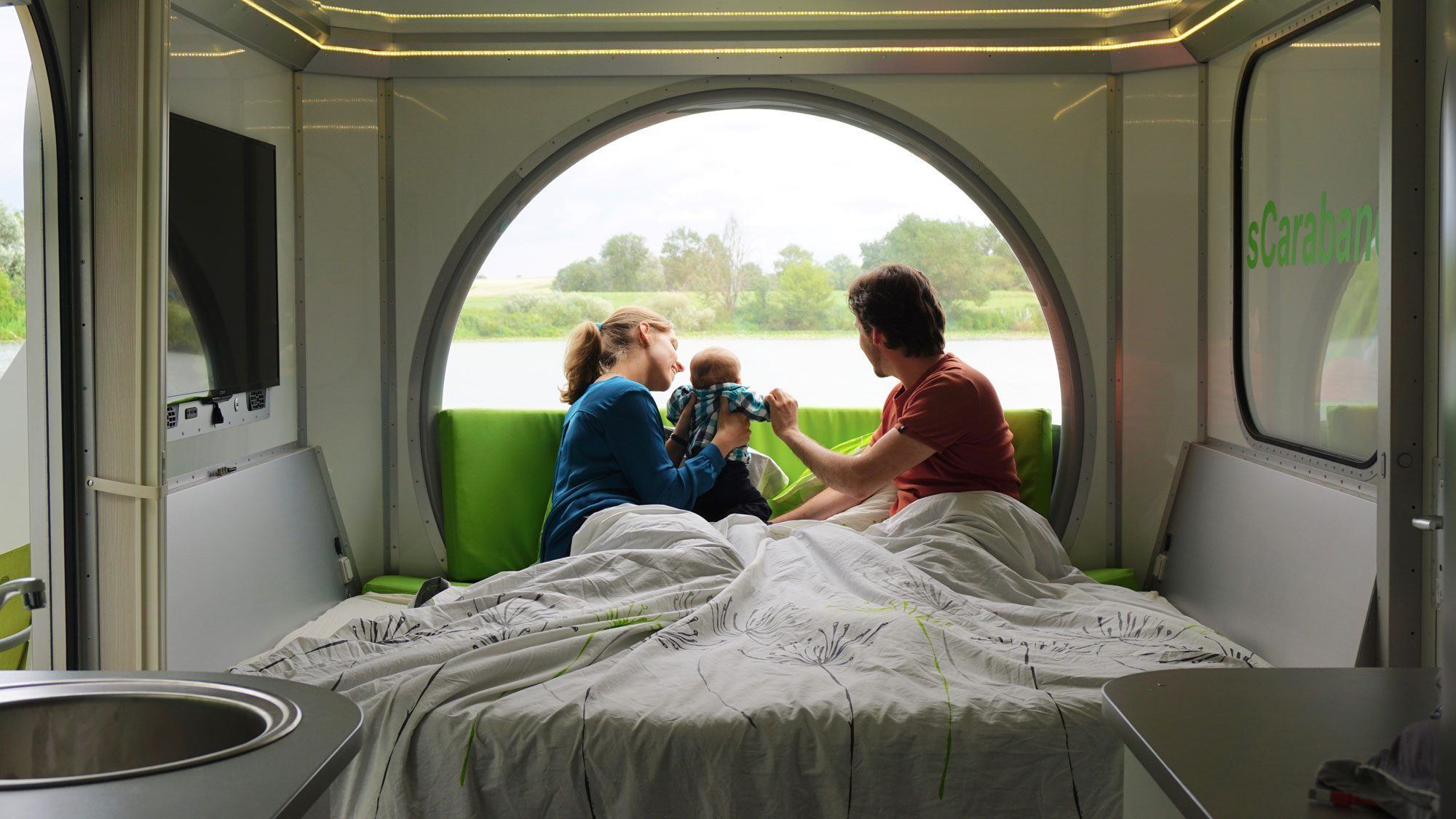 Off Grid Caravan - bedroom one