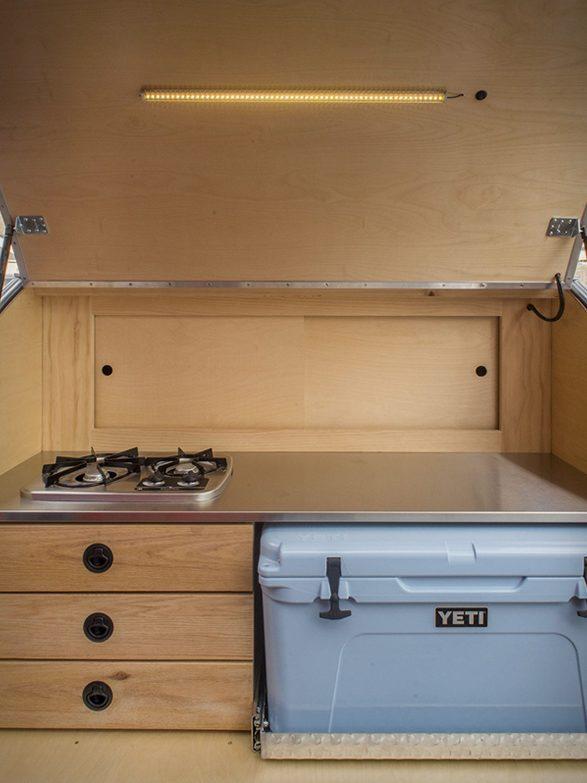 Escapod Trailer - kitchen