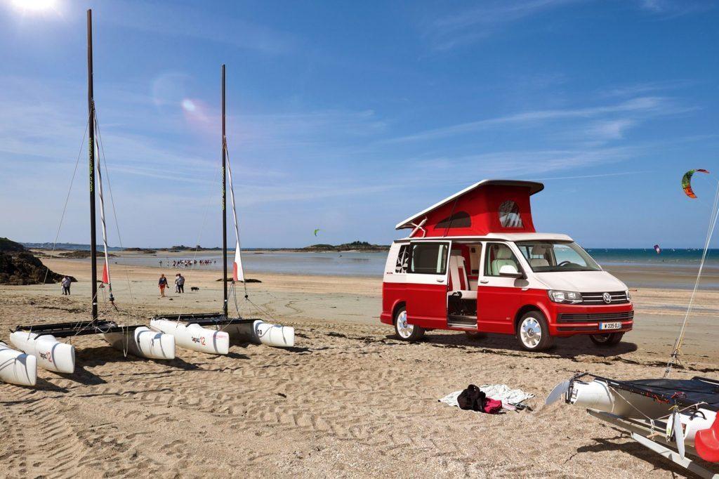vw california camper - beach