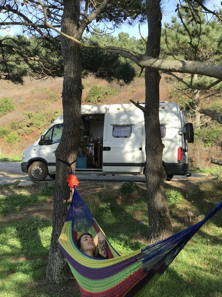 travel hammock - vanlife