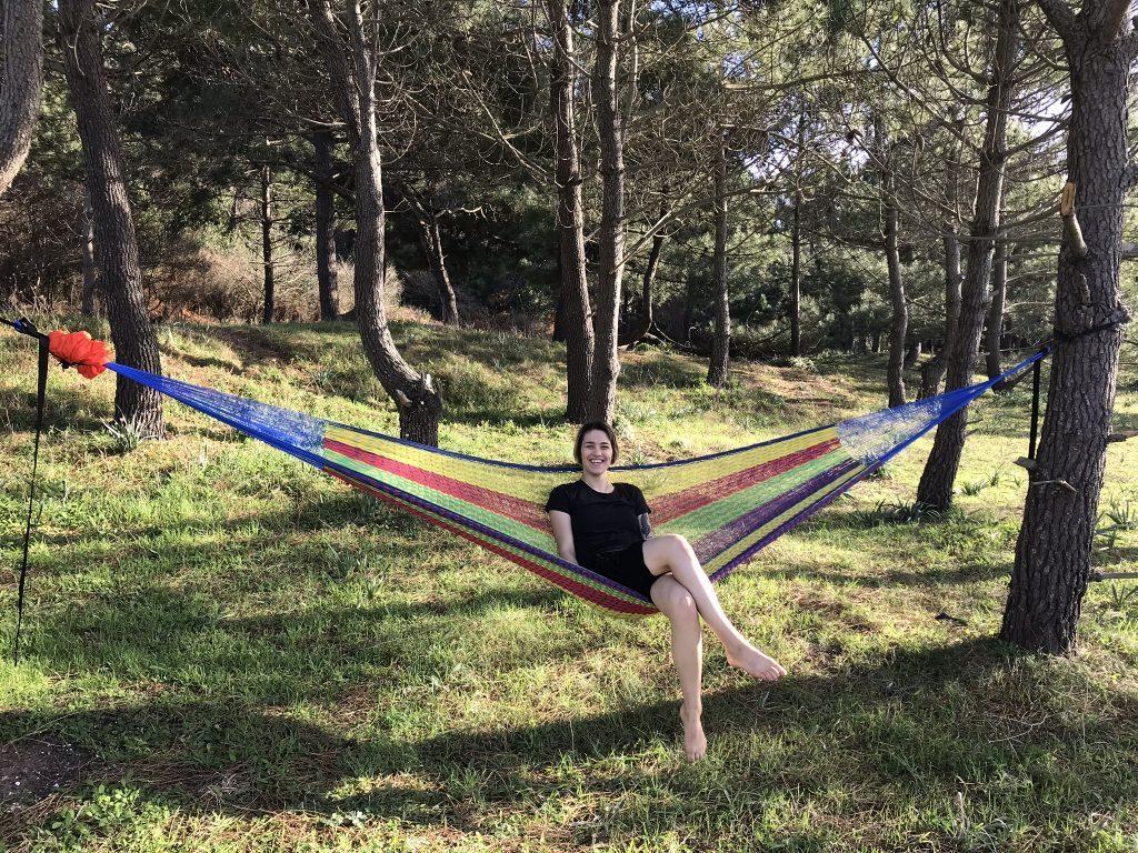 travel hammock - sitting
