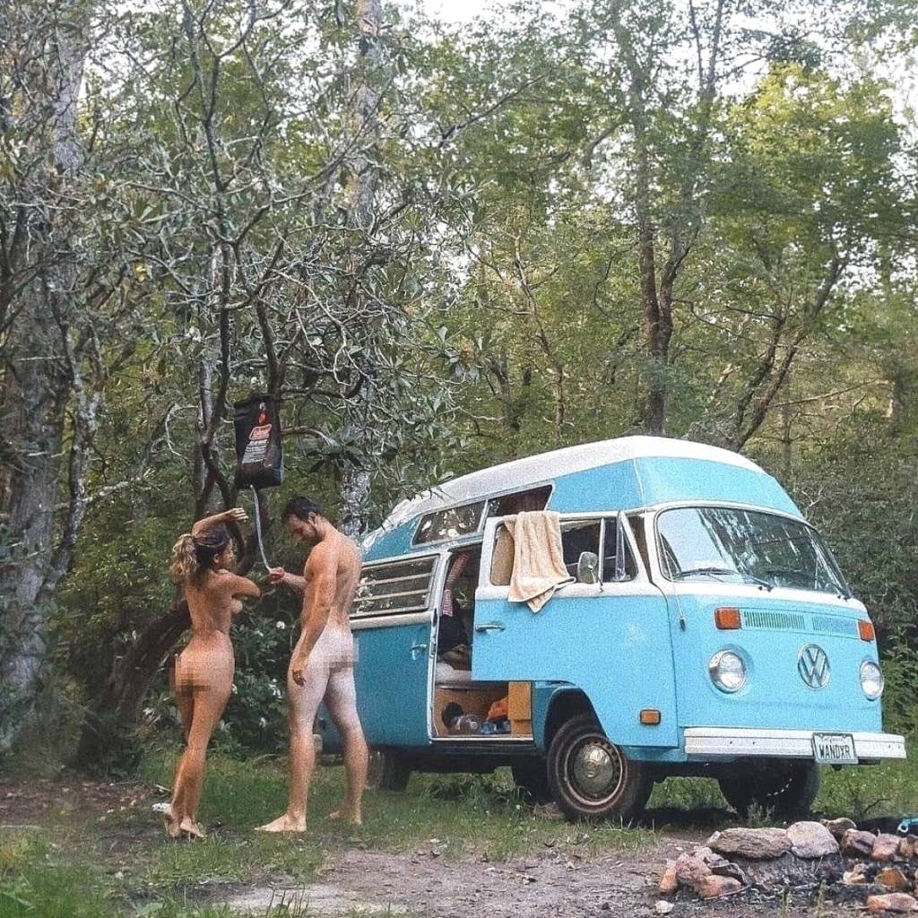 camper conversion - shower