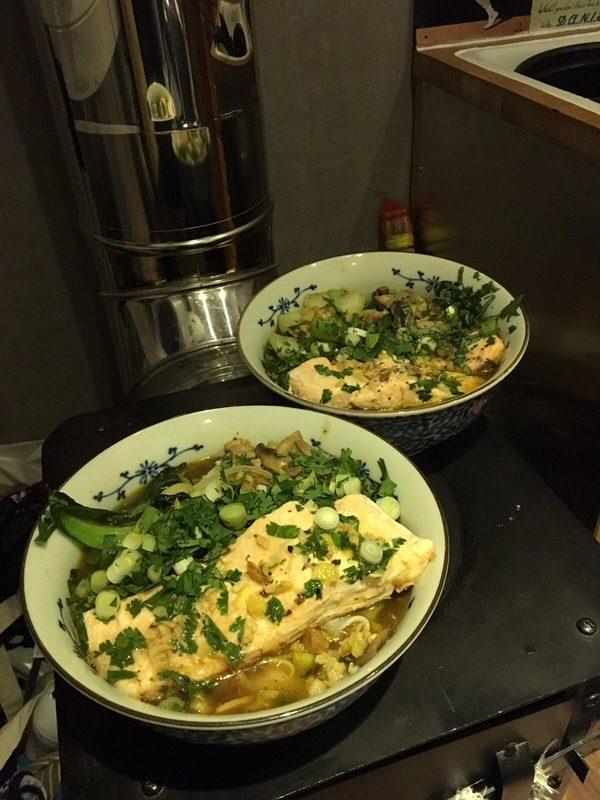 vanlife recipes - salmon
