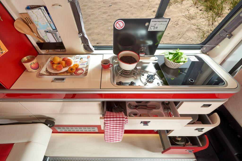vw california camper - kitchen