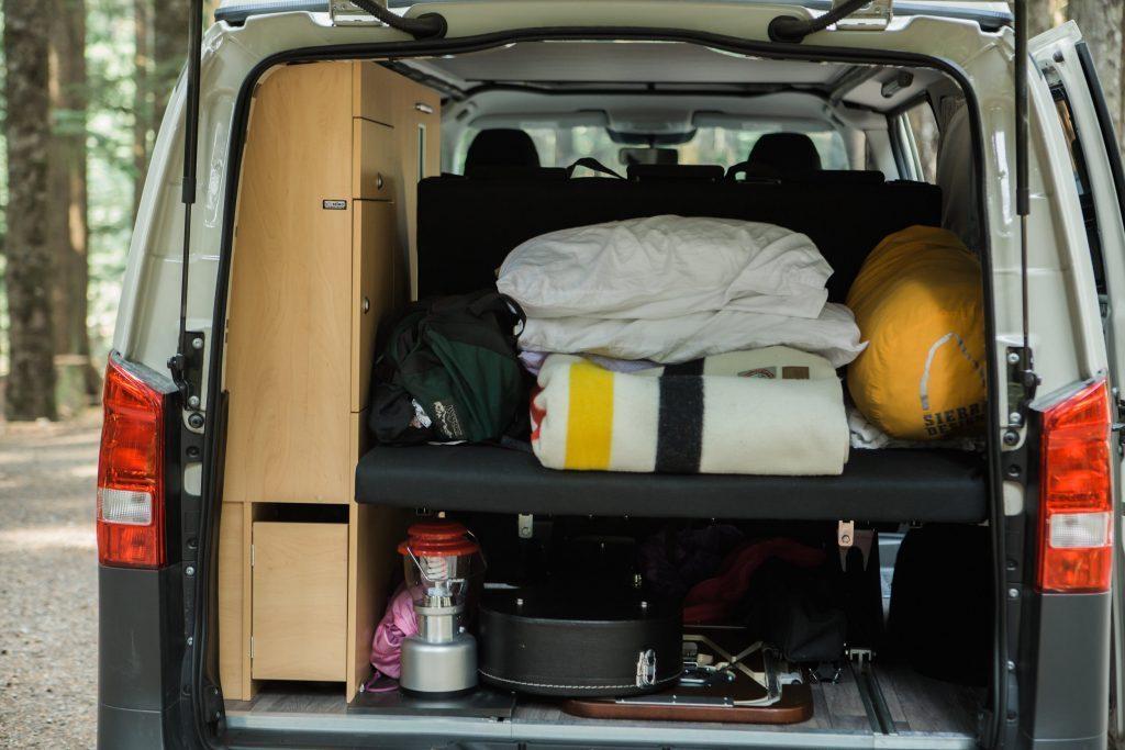 compact camper van - boot