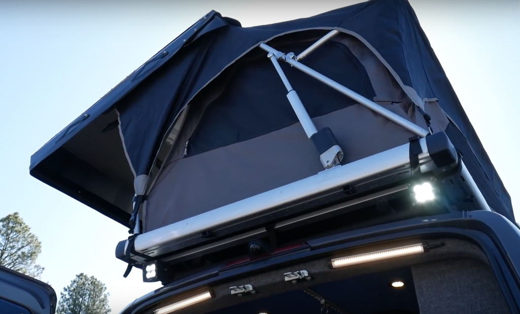Free spirit roof top tent on the Outside Van Campers