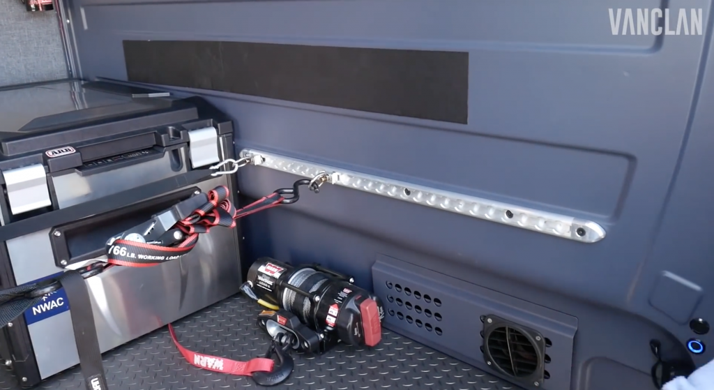 Winch inside the outside van campers