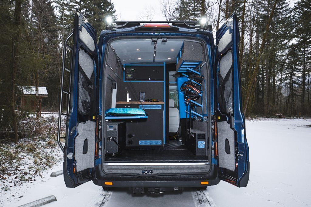 The many different ways you can store and sleep inside your Outside Van