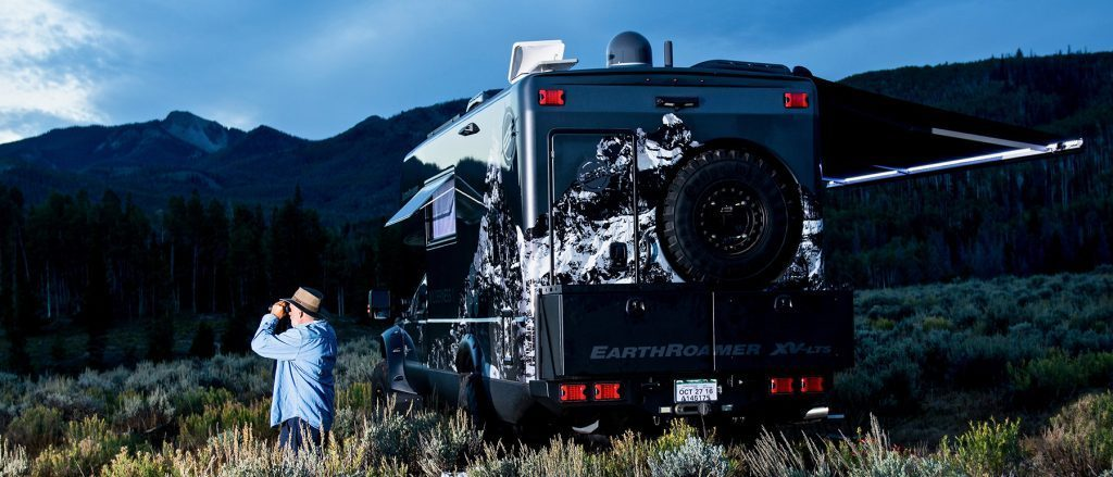 Off road truck in the mountains