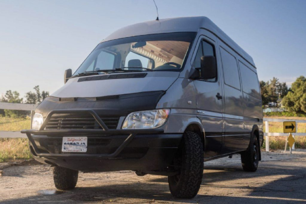 Stealth campers - Quin's sprinter van from the outside.