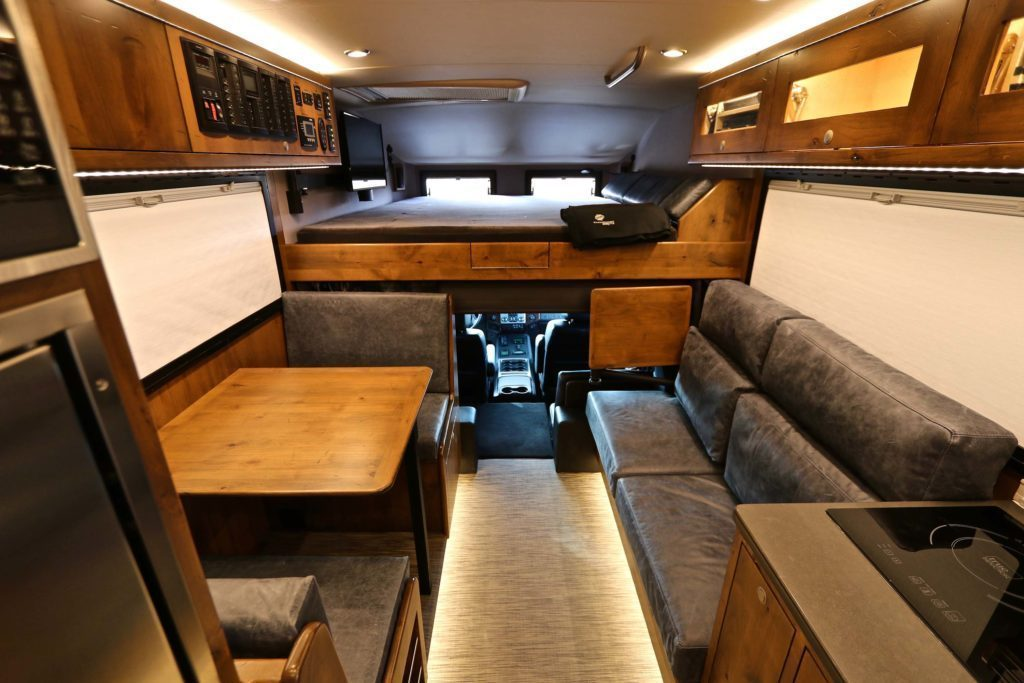 The interior in this truck camper is so stylish it hurts!