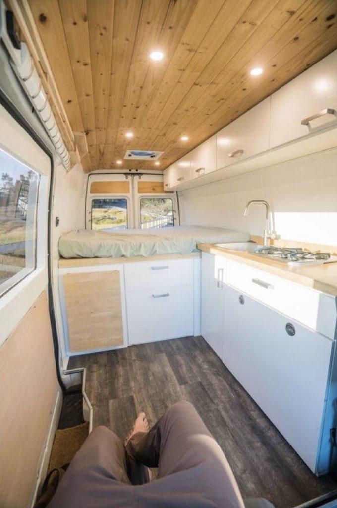 Stealth campers - interior of the van