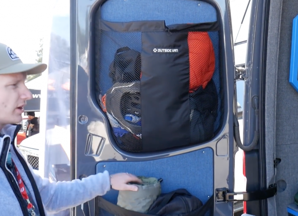Stuff sacks, perfect for holding all your gear on the back doors