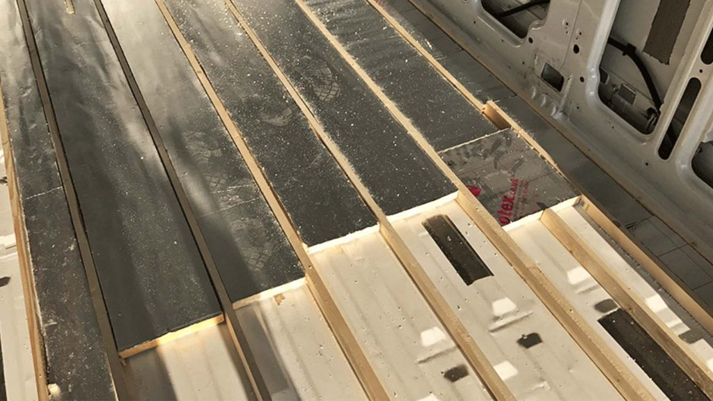 how to insulate a camper flooring panels