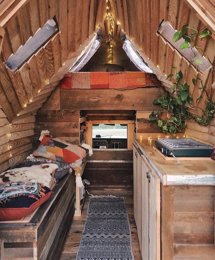 Rustic truck cabin interior.